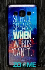 Чехол для Samsung Galaxy A3 пластик PC Silence Speaks When Words Can't