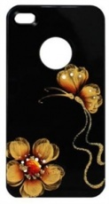 Чехол для IPhone 4/4S iCover Butterfly Daisy Black (IP4-HP-BD/BK)