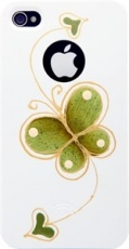 Чехол для IPhone 4/4S iCover Hand Printing Butterfly Heart White (IP4-HP-BH/W)