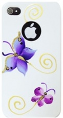Чехол для IPhone 4/4S iCover Hand Printing Butterfly White (IP4-HP-BF/W)