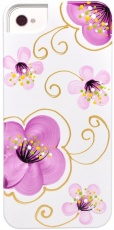 Чехол для IPhone 4/4S iCover i4 Cherry Blossoms White/Purple (IP4-HP/W-CR/PP)