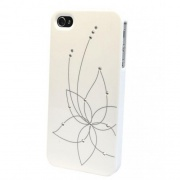 Чехол для iPhone 5C iCover Swaroski New Design SW13 White (IPM-SW13-W)