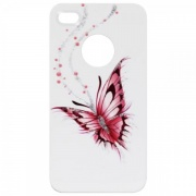 Чехол для IPhone 4/4S iCover Hand Printing Happy Butterfly White (IP4-HP-HB/W)