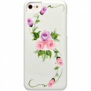 Чехол для iPhone 5C iCover Hand Printing Vintage Rose White Purple (IPM-HP/W-VR/PP)