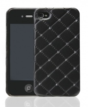 Чехол для IPhone 4/4S iCover Leather Swarovski Black (IP4-LE-SW/BK)