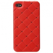 Чехол для IPhone 4/4S iCover Leather Swarovski Red (IP4-LE-SW/R)