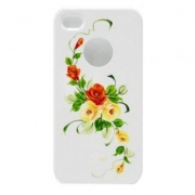 Чехол для IPhone 4/4S iCover Hand Printing Vintage Rose White/Pink (IP4-HP/W-VR/P)