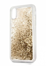 Чехол для iPhone X Guess Glitter Hard PC Gold (GUHCPXGLUFLGO)