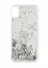 Чехол для iPhone X Guess Glitter Hard PC Silver (GUHCPXGLUFLSI)