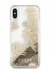 Чехол для iPhone X Guess Glitter Palm spring Hard PC Gold (GUHCPXGLUPRG)