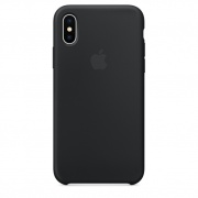 Чехол для iPhone X Silicone Case черный