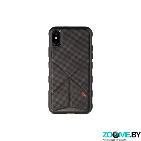 Чехол Uniq для iPhone X Transforma Rigor Black (IPXHYB-TRIGBLK) фото
