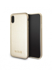 Чехол для iPhone XS Max Guess Iridescent Hard Gold