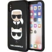 Чехол для iPhone XS Max Karl Lagerfeld Karl and Choupette черный