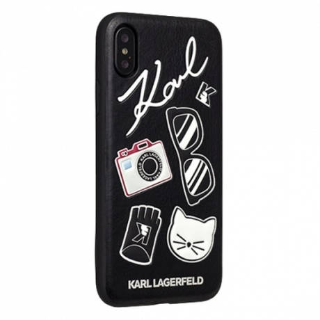 Чехол для iPhone XS Max Karl Lagerfeld Embossed Pins черный фото