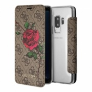 Чехол для Samaung Galaxy S9 Plus Guess Booktype Flower Desire Roses Brown