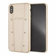 Чехол для iPhone XS Max Guess KAIA Hard Case золотой