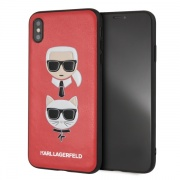 Чехол для iPhone XS Max Karl Lagerfeld Karl and Choupette красный