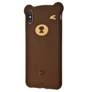 Чехол для iPhone XS Max Baseus Bear Silicone Case Brown