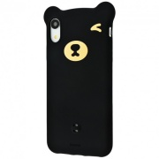 Чехол для iPhone XR Baseus Bear Silicone Case Black