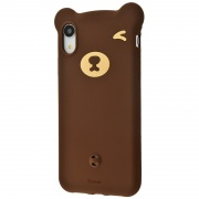 Чехол для iPhone XR Baseus Bear Silicone Case Brown