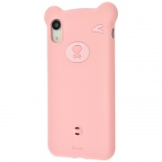 Чехол для iPhone XR Baseus Bear Silicone Case Pink