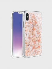 Чехол для iPhone XS Max Uniq Lumence Clear Rose Gold IPH6.5HYB-LUMCRGD