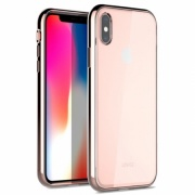 Чехол для iPhone XS Max Uniq Glacier Glitz Blush Gold IP6.5HYB-GLCZBGD