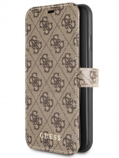 Чехол для iPhone 11 Pro Guess Brown Folio super slim